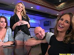 Women are always so shy, but our tricks always help. Some cash and every wish will be achieved, like in this episode of Money Talks. We flashed 50 dollars and all the babes, one by one, showed us their big meaty boobs, eagerly. We offered 100 $ for a blowjob, how do you think, will somebody take our proposal?