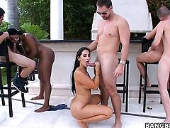 Brunette Cherie Magic is one hot cock rider that loves it so much