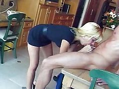 Whore blond anal ride