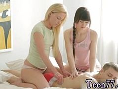 Lucky dude threesome full length Massage turns into mighty threesome