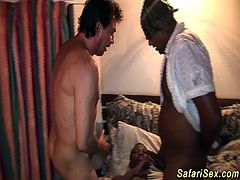 extreme hot african safari threesome orgy with big natural breast chocolade babe