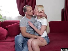 Angie Koks has the best type of ass out there, the Russian kind that always wants a dick up it. Shes a platinum blondes straight from Moscow with a deep craving for stud cock. Up her pussy just isnt enough, so bending over for anal penetration is what really gets Angie Koks going, and this dude is so hot, they dont even make it to the bedroom before he dips into her anus and unleashes a load onto her face.
