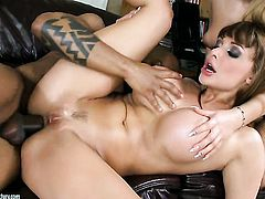 Blonde Aletta Ocean cant resist fuck buddys hard dick in interracial action