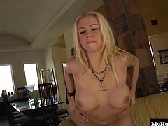 Not only does the beautiful blonde babe, Chloe Dior have a huge pair of knockers but, she also has two big butt cheeks that deserve an honorable mention. She loves smoking a fat cock, before its going to penetrate her mostly, shaved pussy from behind, while shes bent over on her leather couch but, when the fucking comes to an end, she gets a facial.