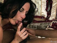 Dick James has some dirty fantasies to be fulfilled with guys rock hard snake in her mouth