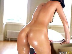 Brunette Samia Duarte fucking like a first rate anal whore