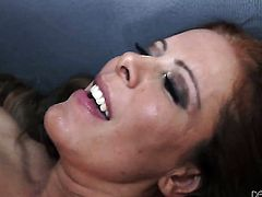Nicky Ferrari makes dudes rock solid pole disappear in her mouth in sexual ecstasy