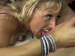 Mature blonde Lana Vegas sucks and fucks cock
