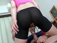 japanese girl gets fucked with big fat load