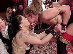 dominated sex slaves get dirty at kinky orgy