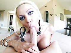 Sinfully sexy woman Nikita Von James is on the way to orgasm with hard dick in her pussy