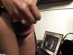 Blonde Cris Le Blond gets her ass drilled silly by sex obsessed man