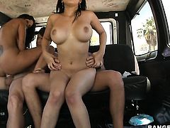 Brunette latin Anna with bubbly ass and hard dicked guy do dirty things