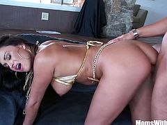 Sexy milf Claudia Valentine takes up pole dancing lessons but she ended up sucking and fucking her instructor's big pole instead.