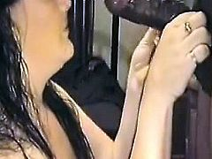 Spouse throating a bbc