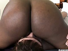 Milf senora Alexis Fawx with juicy tits spends her sexual energy with hard dicked guy in interracial porn action