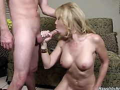 Blonde oriental tart is a facial cum slut