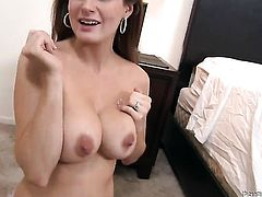 Allison Moore gets her throat fucked to death by hot man