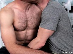 Markie thought that being a gay porn star was the pinnacle of happiness, but he found that leading the search for new talent, was even more exciting. He gets to try out new guys all the time, and his talent-finding skills add to his paycheck.