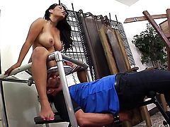 Oriental Jessica Bangkok kills time fucking with horny fuck buddy in interracial porn action