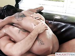 Tattoos Bonnie Rotten with juicy melons and shaved muff gets boned to death