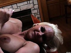 Phoenix Marie blows the sticky nectar out of sausage