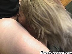 Blonde And Trashy Ruby Octroi Face Smashed On Couch