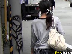 Fetish asian pee street