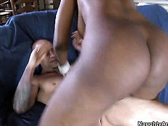Tattoos Barry Scott with giant hooters has some dirty fantasies to be fulfilled in cumshot action