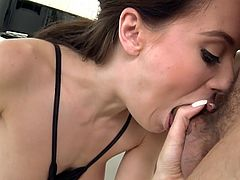 Visit official Hard X's HomepageTime for this big tits cutie, Lana Rhoades, to kneel and swallow some fresh jizz after moments of crazy hardcore combined with plenty of oral