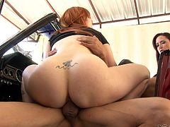 My mommy wanted to test, whether my boyfriend can fuck me properly or not. I sucked his dick and he fucked me in the car itself. My mommy was extremely happy with his stamina and power, and she applauded my choice.