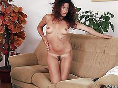 Brunette Silvia Saint loves fucking herself for you to watch and enjoy