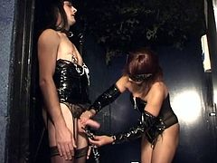 Sissy submissive spanked and abused by her mistress