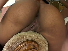 Ebony Teen Takes 2 White Cocks in Every Hole