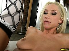 Blonde Bree Daniels has a lot of sexual energy to spend and does it alone!