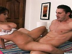 Redhead chachita Reno demonstrates her body parts while getting her sweet pounded hard and deep by horny as hell guy