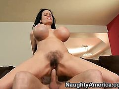 Mature Sofia Staks with huge jugs takes unthinkable money shot on her nice face