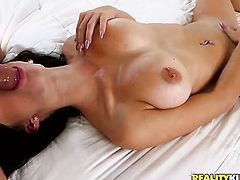 Teen breathtaker Alex Davis gets a mouthful of fuck stick in oral action with hot bang buddy