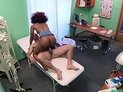 This luxury ebony milf with pair of big boobs, opened the door of my hospital in search of a big hard dick. Her black pussy was itching and she needed somebody to help her... It was so unexpectedly, that I I woke from a stupor only, when she was already riding my hard cock.