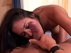Hot mouth of Reena Sky opens up to suck a thick cock