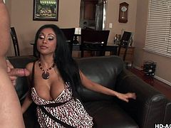 Priya Rai is one of the horny housewives, whose hunger for cock never ends. She neither wear bra, nor panty. She gave handjob and put his fat dick in her mouth. She made it wet with saliva and rubbed it on her cleavage. She took cock in pussy from behind. After that, she got her ass fucked in missionary.