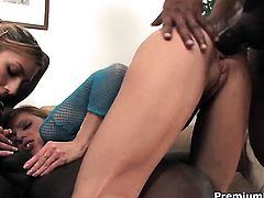 Kitty Jane and hard dicked fuck buddy fulfill their sexual needs together in interracial porn action