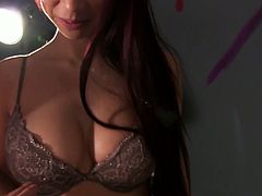 Red haired gal Paula Shy shows blowjob master class and rides dick face to face