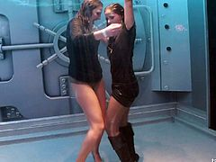 Wet adventure of two sexy chicks who just love going totally wild