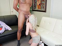 Cadence Lux is a small but very sexy girl with amazing body. Watch her suck and ride a biggest black cock out there. Truly a monster among dicks, you'll watch in awe hardly believing, that such a petite girl can take such a huge dick deep inside her. Cadence sure proved her merit!