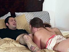 Sloppy cocksucking from sexy Maddy OReilly