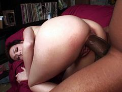 Skinny temptress and a thick black cock meet for fucking