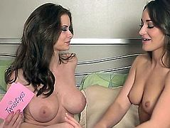 Dani Daniels receives interviewed by breasty lesbo honey