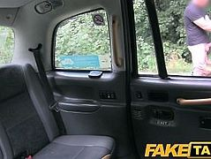 FakeTaxi Hot blonde on taxi cab bonnet