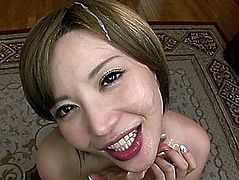 Hawt POV oral job compilation with Japanese milfs